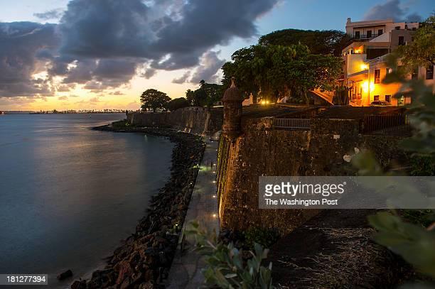 Shown is the city wall overlooking San Juan Bay on December 4 2012 in Old San Juan PR
