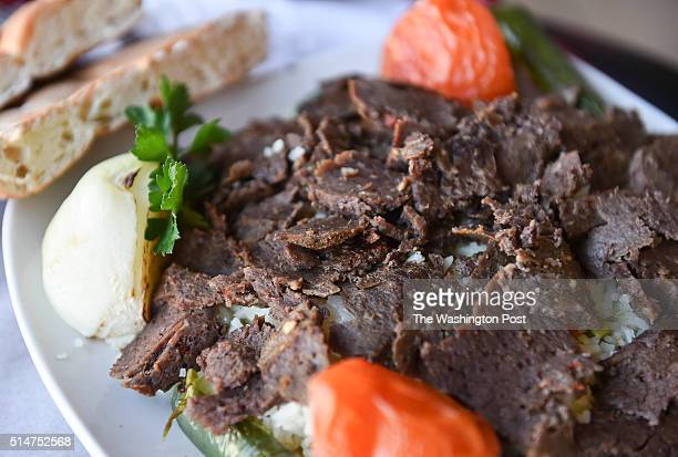 Shown is the Doner Kebab for the weekly $20 Diner column at Aden Mediterranean Middle Eastern Pizza on March 7 2016 in Bethesda MD