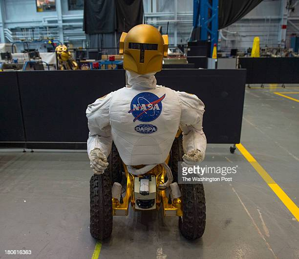 Shown is the Robonaut dexterous humanoid robot inside the Space Vehicle MockUp Facility at the Lyndon B Johnson Space Center on August 27 2013 in...