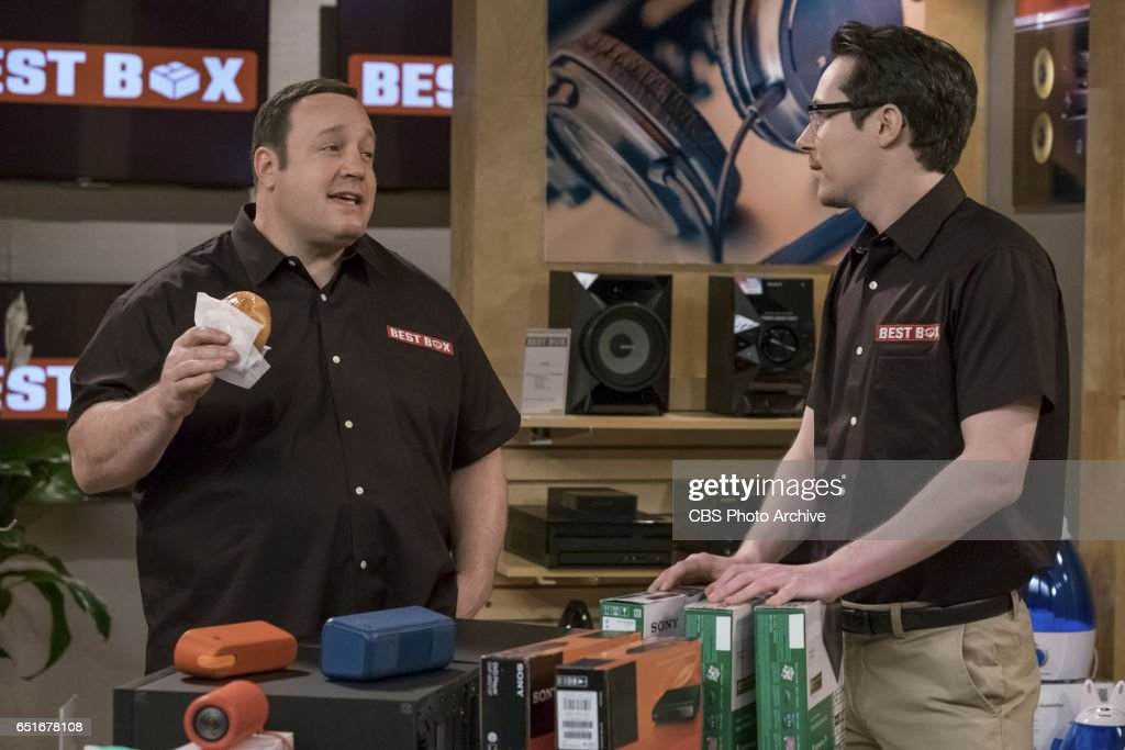 'Showroom Showdown' -- When Kevin and Chale get jobs working in the warehouse at an electronics store to help pay for the wedding, Chale's quick promotion to the sales floor kick-starts Kevin's competitive side, on KEVIN CAN WAIT, Monday, March 13 (8:00-8:30 PM, ET/PT) on the CBS Television Network. Pictured: Kevin James, Ryan Cartwright