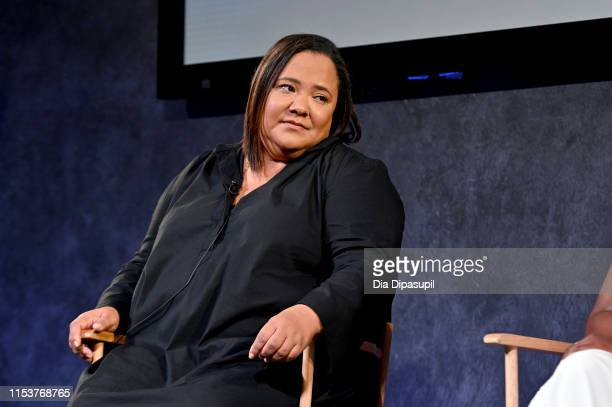 Showrunner and executive producer dream hampton speaks onstage during the Emmy FYC Screening of Surviving R Kelly at the Paley Center for Media on...