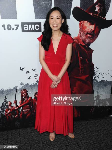 Showrunner Angela Kang arrives for the Premiere Of AMC's 'The Walking Dead' Season 9 held at DGA Theater on September 27 2018 in Los Angeles...