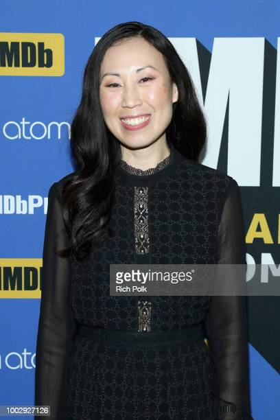 Showrunner Angela Kang attends the #IMDboat At San Diego ComicCon 2018 Day Two at The IMDb Yacht on July 20 2018 in San Diego California