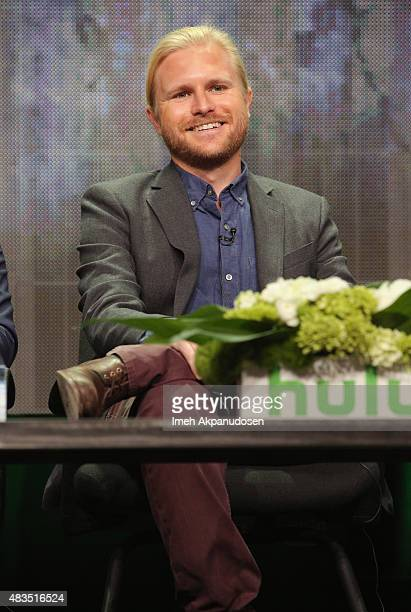 Showrunner Ben Waller speaks onstage during a panel for Rocketjump The Show at the Hulu 2015 Summer TCA Presentation at The Beverly Hilton Hotel on...