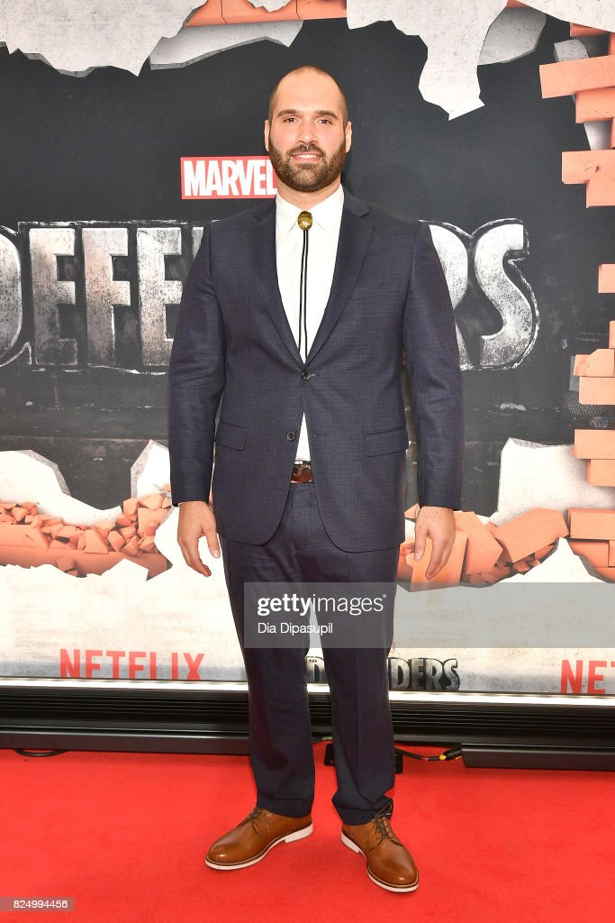 Showrunner Marco Ramirez attends the 'Marvel's The Defenders' New York Premiere at Tribeca Performing Arts Center on July 31, 2017 in New York City.