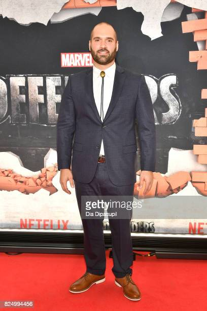 Showrunner Marco Ramirez attends the Marvel's The Defenders New York Premiere at Tribeca Performing Arts Center on July 31 2017 in New York City