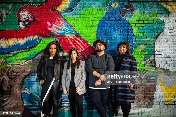 Showrunner Monica Macer actress America Ferrera and executive producers Marvin Lemus and Linda Yvette Chávez of 'Gentefied' are photographed on...