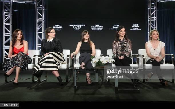 Showrunner Stacy Rukeyser cocreator Sarah Gertrude Shapiro creator/showrunner Tara Armstrong cocreator/coshowrunner Sera Gamble and show creator...