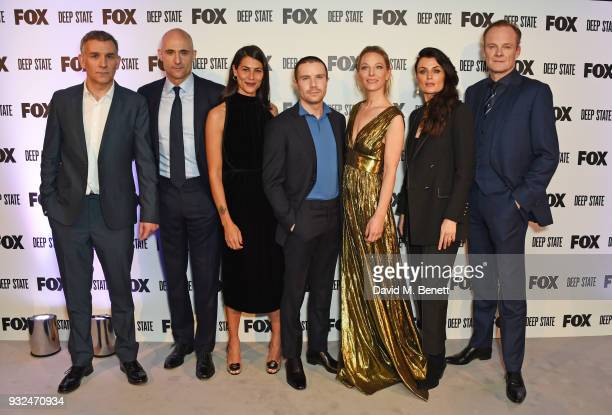 Showrunner/CoCreator Matthew Parkhill cast members Mark Strong Karima McAdams Joe Dempsie Anastasia Griffith Lyne Renee and Alistair Petrie attend...