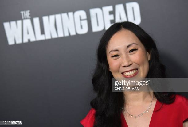 Showrunner/executive producer Angela Kang attends the premiere of AMC's 'The Walking Dead' Season 9 at the DGA theatre in Los Angeles on September 27...
