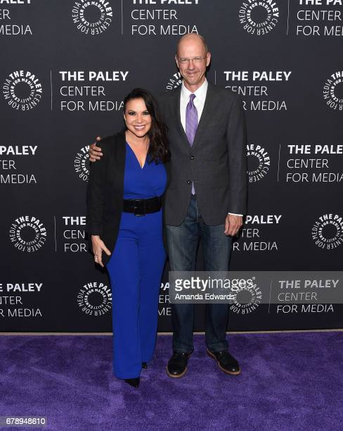 Showrunners and executive producers Gloria Calderon Kellett and Mike Royce arrive at the 2017 PaleyLive LA Spring Season An Evening With One Day At A...