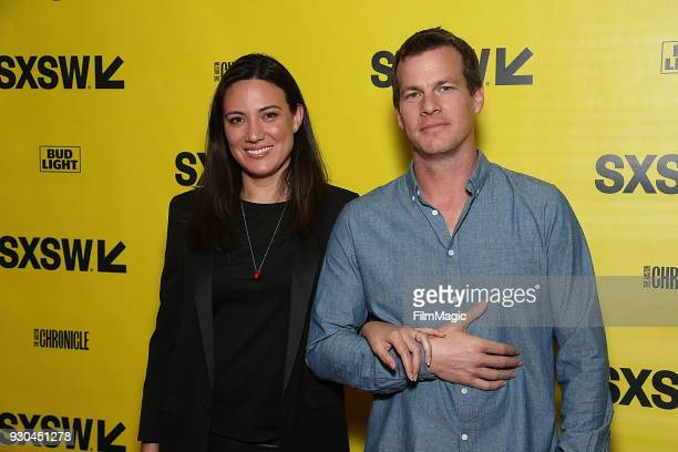 Showrunners/creators Jonathan Nolan and Lisa Joy attend the Westworld Featured Session during SXSW at Austin Convention Center on March 10 2018 in...