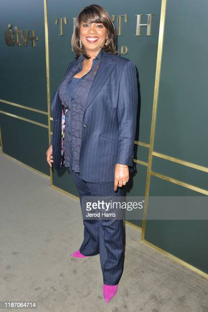 Showrunner/writer/executive producer Nichelle D Tramble arrives at the premiere of Apple TV's 'Truth Be Told' at AMPAS Samuel Goldwyn Theater on...