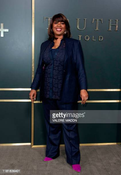 Showrunner/writer/executive producer Nichelle D Tramble attends Apple's premiere of Truth Be Told at the Academy Samuel Goldwyn theatre in Beverly...