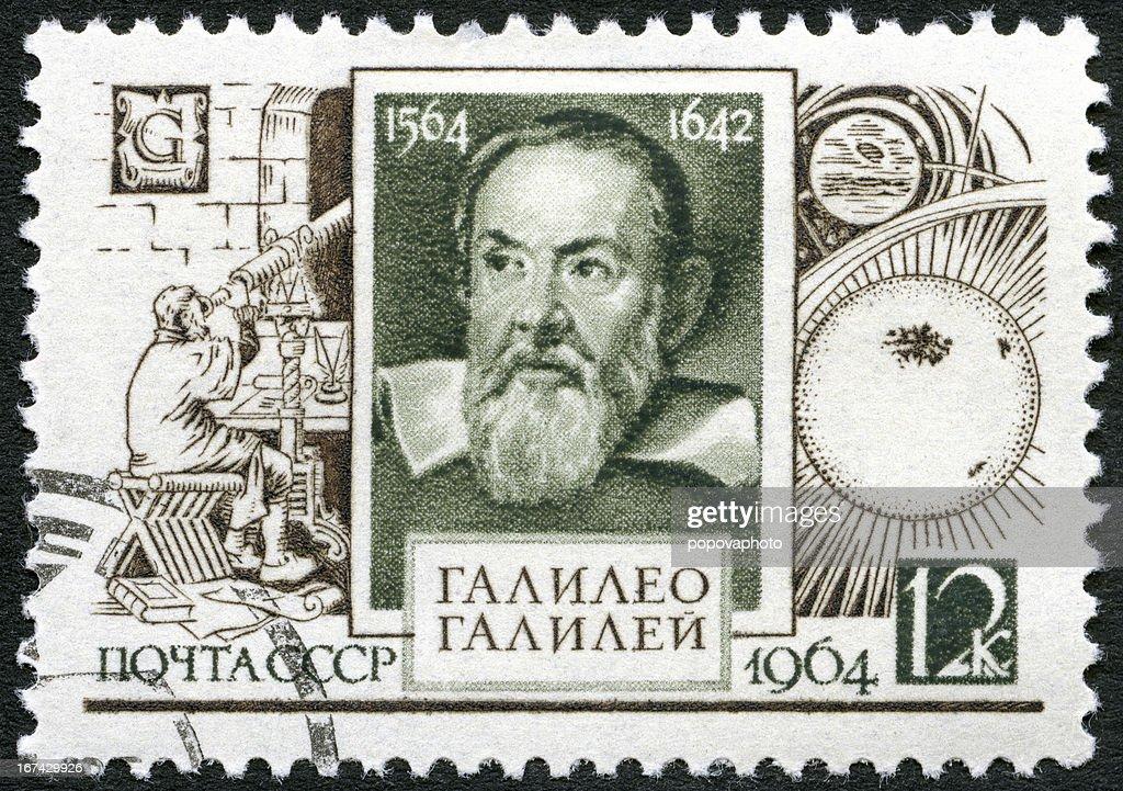 URSS 1964 muestra Galileo Galilei (1564-1642), 400 años aniversario de nacimiento : Foto de stock