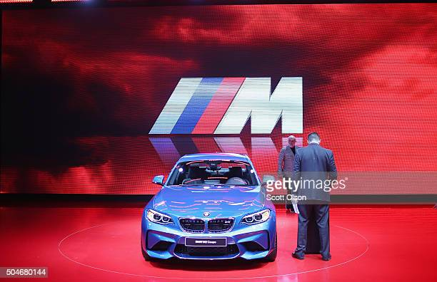BMW shows off the new M2 Coupe at the North American International Auto Show on January 12 2016 in Detroit Michigan The show is open to the public...