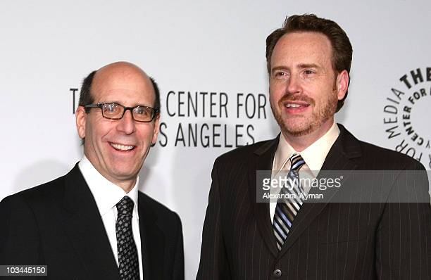 Showtime's Chairman CEO Matt Blank and president of entertainment Bob Greenblatt arrive at the Paley Center for Media 2008 Gala honoring Showtime...