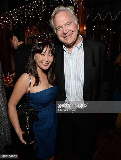 Showtime's Helen Huang and producer Jonathan Sehring attend the AMC Networks and IFC Films Spirit Awards After Party on February 21 2015 in Santa...