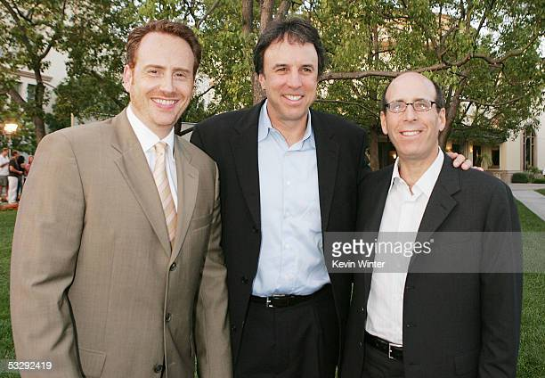Showtime's President of Entertainment Robert Greenblatt and Chairman and CEO Matt Blank pose with actor Kevin Nealon at the premiere screenings of...