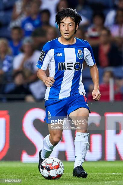 Shoya Nakajima of FC Porto in action during the Liga Nos match between FC Porto and Vitoria FC at Estadio do Dragao on August 17, 2019 in Porto,...