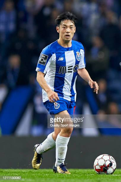 Shoya Nakajima of FC Porto in action during the Liga Nos match between FC Porto and Rio Ave FC at Estadio do Dragao on March 07, 2020 in Porto,...