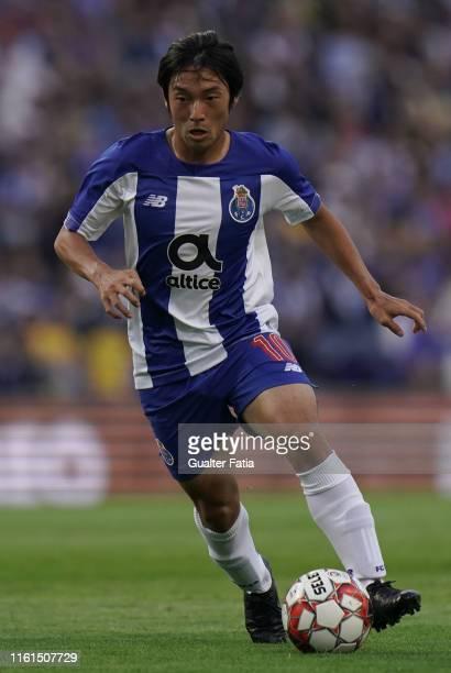 Shoya Nakajima of FC Porto in action during the UEFA Champions League Third Qualifying Round match between FC Porto and C Krasnodar at Estadio do...