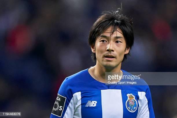 Shoya Nakajima of FC Porto looks on during the Liga Nos match berween FC Porto and CD Tondela at Estadio do Dragao on December 16, 2019 in Porto,...