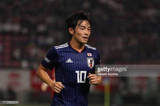 Shoya Nakajima of Japan looks on during the international friendly match between Japan and Paraguay at Kashima Soccer Stadium on September 05, 2019...