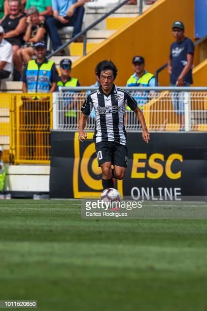 Shoya Nakajima of Portimonense SC during the match between Portimonense and Rio Ave for Portuguese League Cup qualification round at Estadio...
