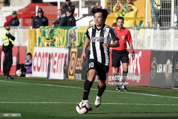 Shoya Nakajima of Portimonense SC in action during the Liga NOS match between Portimonense SC and CD Tondela at Estadio Municipal de Portimao on...