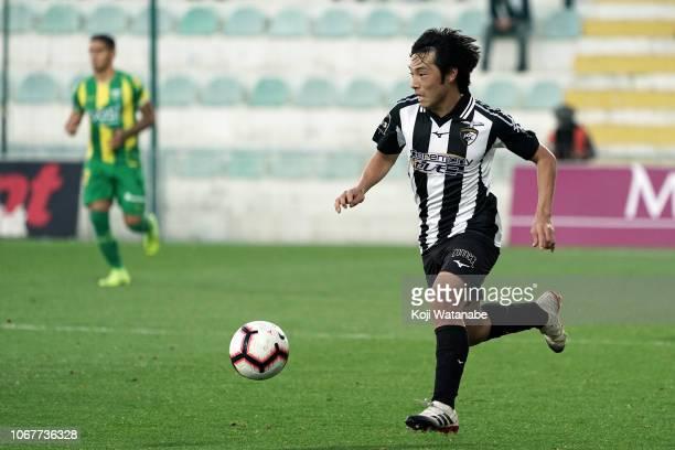 Shoya Nakajima of Portimonense SC looks on during the Liga NOS match between Portimonense SC and CD Tondela at Estadio Municipal de Portimao on...