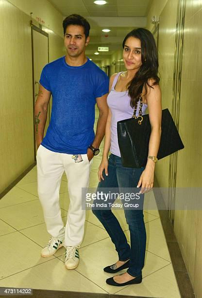 Shraddha Kapoor and Varun Dhawan at the recording of a rap song for their upcoming movie ABCD 2 in Mumbai