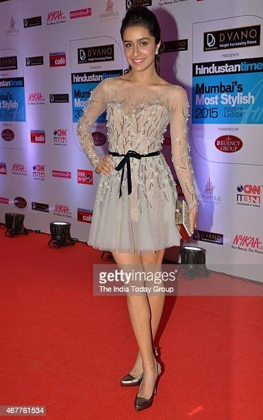 Shraddha Kapoor at HT Mumbais most stylish awards 2015 in Mumbai