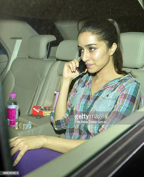 Shraddha Kapoor at the screening of the movie NH10 in Mumbai