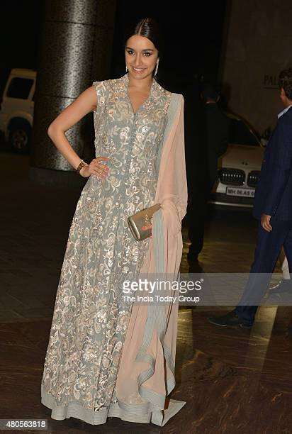 Shraddha Kapoor at the wedding reception of Shahid Kapur and Mira Rajput in Mumbai