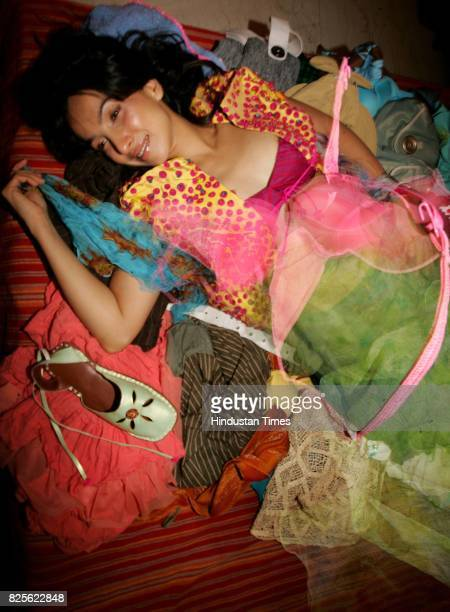 Shraddha Nigam for Me and My Wardrobe in her bedroom at her residence in Versova on Saturday