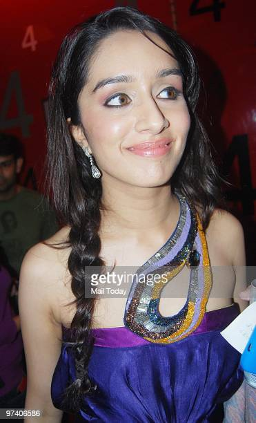 Shradha Kapoor at the special screening of Teen Patti in Mumbai on February 25 2010