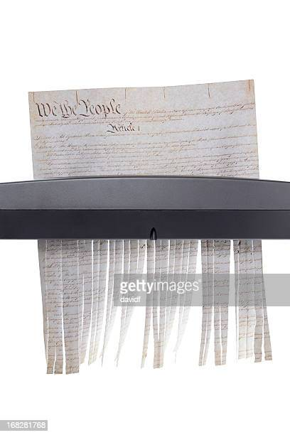 shredded constitution - us constitution stock pictures, royalty-free photos & images
