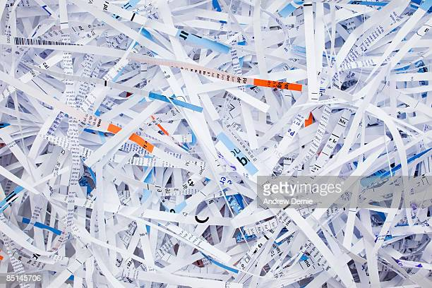 shredded paper - andrew dernie stock pictures, royalty-free photos & images