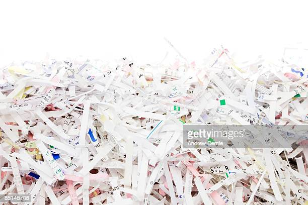 shredded paper - andrew dernie stockfoto's en -beelden