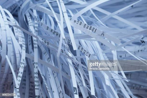shredded papers - shredded stock pictures, royalty-free photos & images