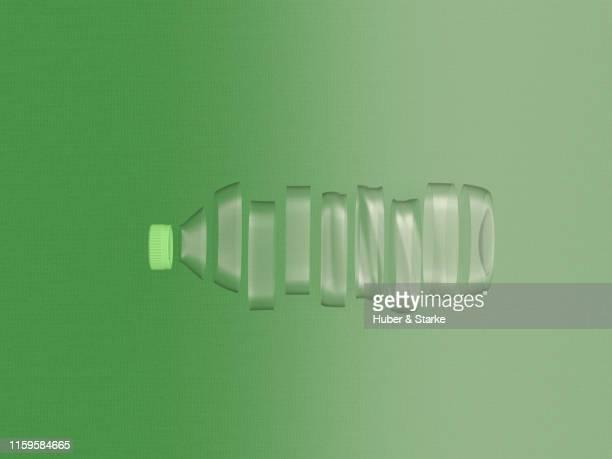 shredded plastic bottle