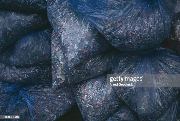 Shredded plastic bottles 1993