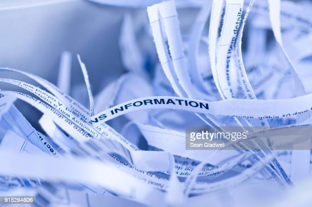 shredding letters - data privacy stock pictures, royalty-free photos & images