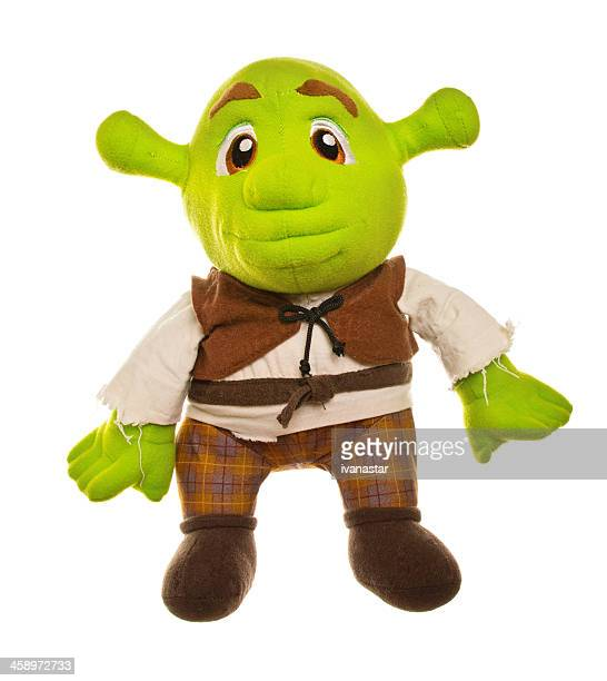 shrek stuffed toy - monster fictional character stock pictures, royalty-free photos & images