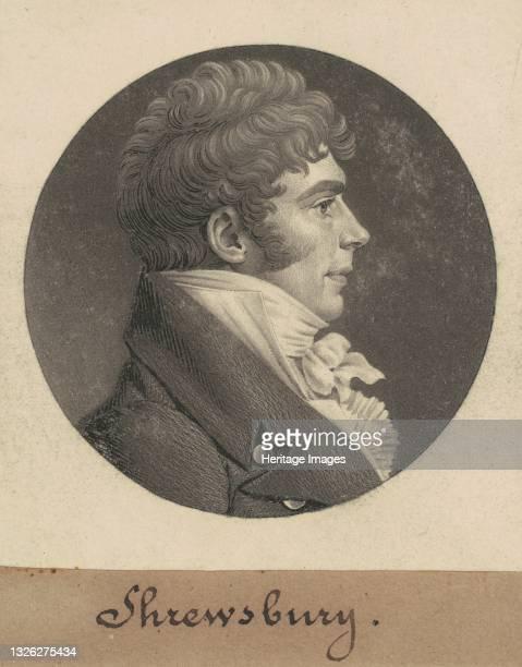 Shrewsbury, 1809. Artist Charles Balthazar Julien Févret de Saint-Mémin.