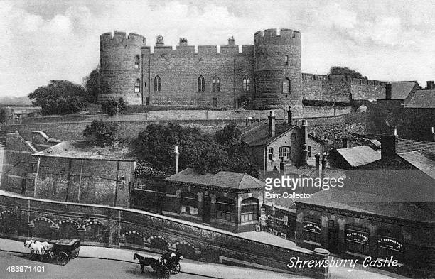 Shrewsbury Castle Shrewsbury Shropshire c1900sc1920s This Norman castle was founded by Roger de Montgomery in c1070 Much of it was demolished during...