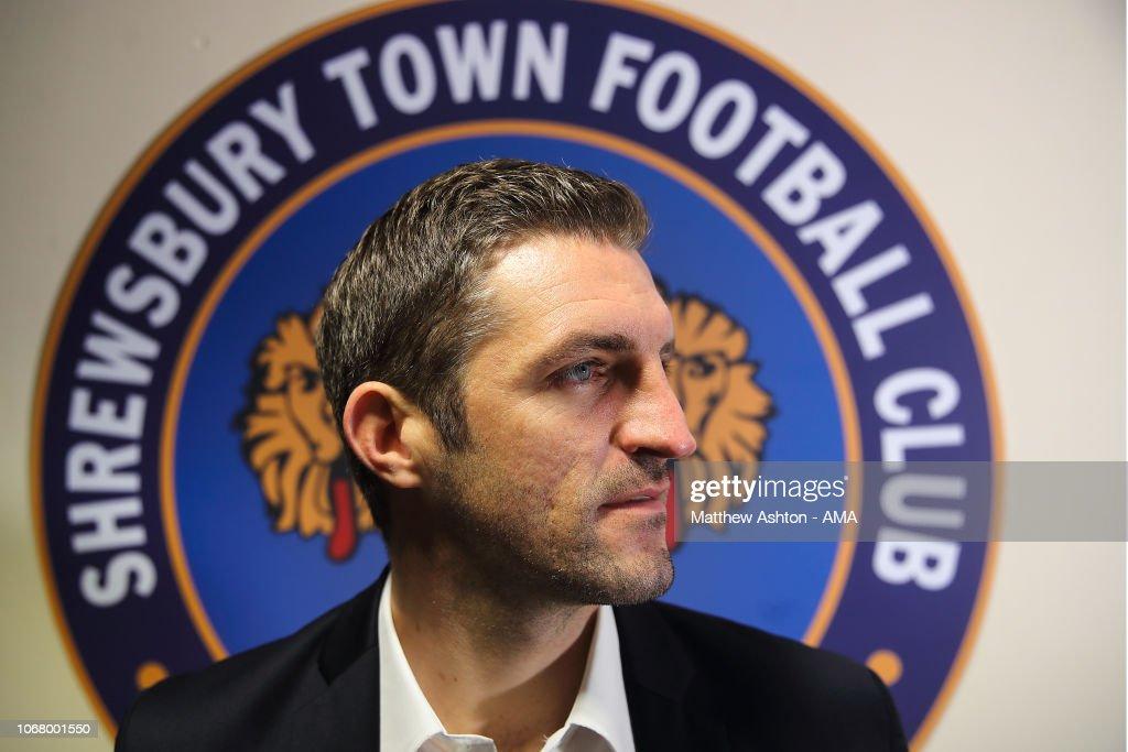Shrewsbury Town Unveil New Manager Sam Ricketts : News Photo