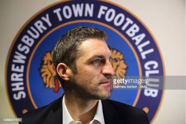 Shrewsbury Town name Sam Ricketts as first team manager at Greenhous Meadow on December 3 2018 in Shrewsbury England