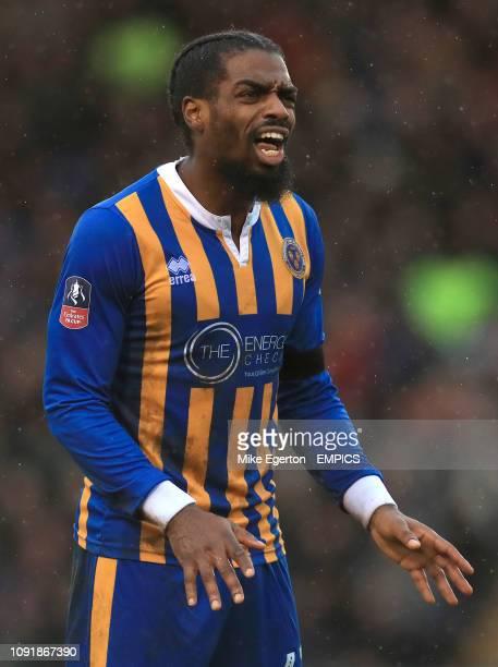 Shrewsbury Town's Anthony Grant Shrewsbury Town v Wolverhampton Wanderers FA Cup Fourth Round Montgomery Waters Meadow